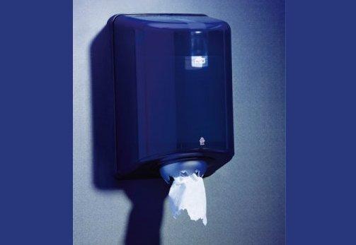 Papierrollenspender M-Box mit Sichtfenster quarzblau