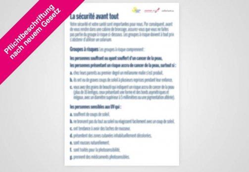 "Poster französisch DIN A1 ""Risikogruppen"" nach Gesetz"