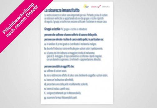 """Poster italienisch DIN A1 """"Risikogruppen"""" nach Gesetz"""
