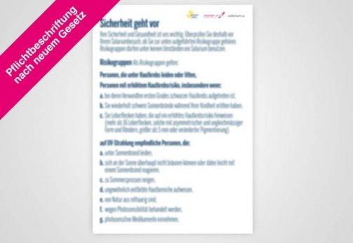 """Poster englisch DIN A1 """"Risikogruppen"""" nach Gesetz"""